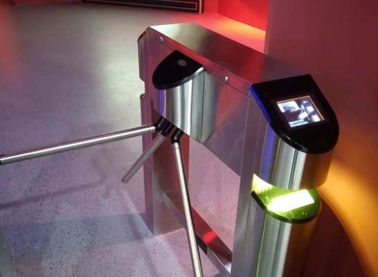 Example Tripod UK Turnstiles with Card Reader