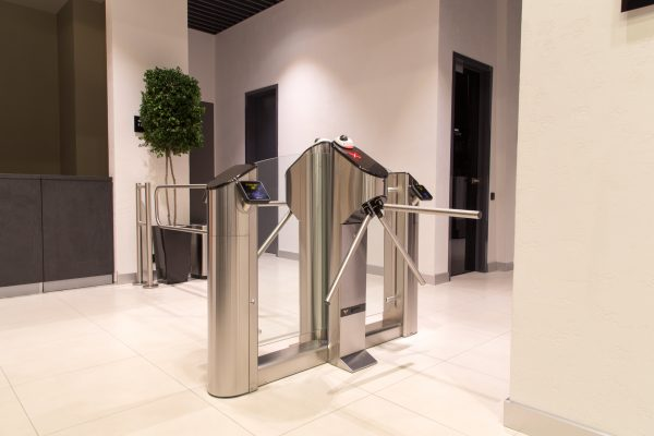 Tripod UK Turnstiles with Glass Infill Panels