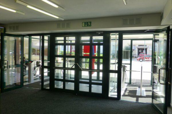 Example Tripod Doorway Turnstile Installation UK Turnstiles