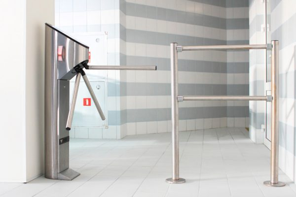Tripod UK Turnstiles with Glass Infill
